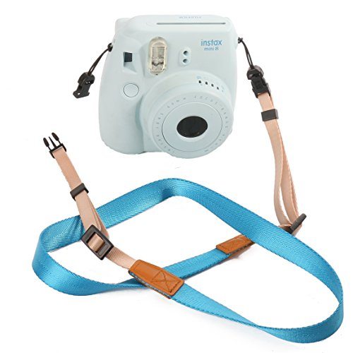 Fujifilm-Universal-Camera-Strap-WOODMIN-Adjustable-Shoulder-Belt-for-Fujifilm-Instax-Mini-Camera-Polaroid-Camera-Digital-Camera-Nikon-Camera-Cannon-Camera-Samsung-CameraRainbow