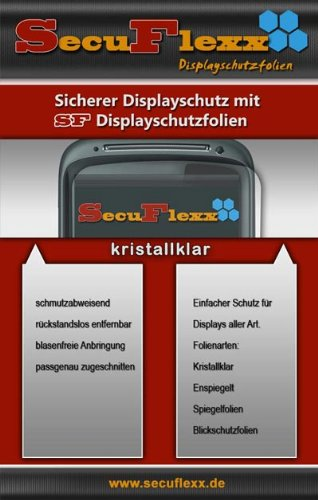 SecuFlexx Crystal Clear (kristallklar) Display Schutzfolie Sony HDR-SR11 E