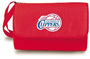 NBA Los Angeles Clippers Outdoor Picnic Blanket Tote, Red by Picnic Time
