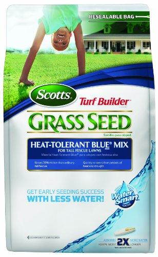 Scotts 18208 Turf Builder Heat-Tolerant Blue Grass Seed Mix, 20-Pound