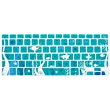 Case Star Ocean series Aqua Blue Keyboard Silicone Cover Skin With The Seaweed And Fish Pattern for Macbook 13 Unibody / Macbook Pro 13 15 17 + Case Star Cellphone Bag