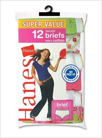 Hanes Girls Cotton Brief (12-Pack)