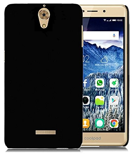 WOW-Imagine-Rubberised-Matte-Hard-Case-Back-Cover-For-Coolpad-Mega-25D-Pitch-Black