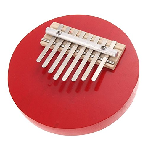 V-EWIGE New Design Mini Kalimba Pentatonic Thumb Piano Pine 8 Key Round Wood Piano New (Kalimba Sheet Music compare prices)