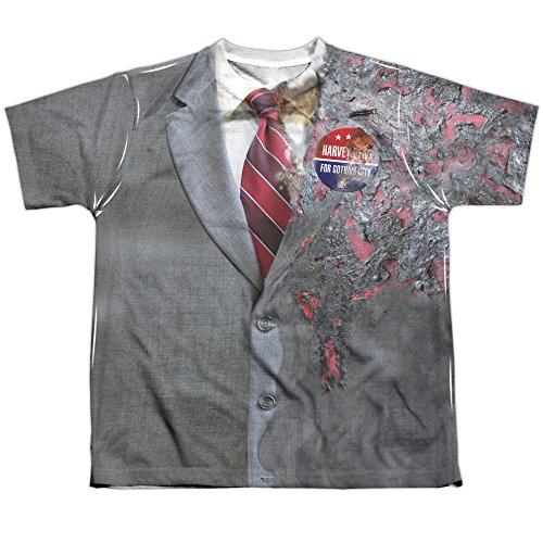 Dark Knight - Two Face Costume Youth All Over Print 100% Poly T-Shirt S (Adult Twoface Costume)