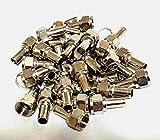 アンテナ ケーブル接続に必要な F型接栓 プラグ 5C 加工簡単(50個 リングセット)×2セット 計100個)