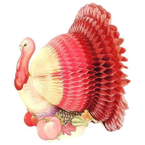 Creative Converting Thanksgiving Turkey Tissue Paper Honeycomb Centerpiece
