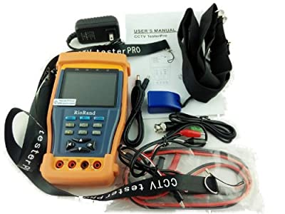 """RioRand Cctv Tester, 3.5""""tft-lcd, Digital Multimeter, Video Level Testing, PTZ Controller, Dc12v 1a Power Out for Camera, All in One Cctv Test Monitor"""