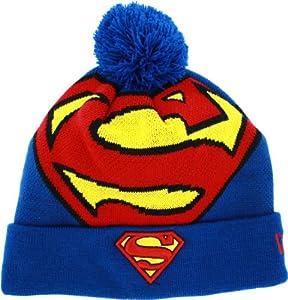 Superman Logo Woven Biggie Knit Cap