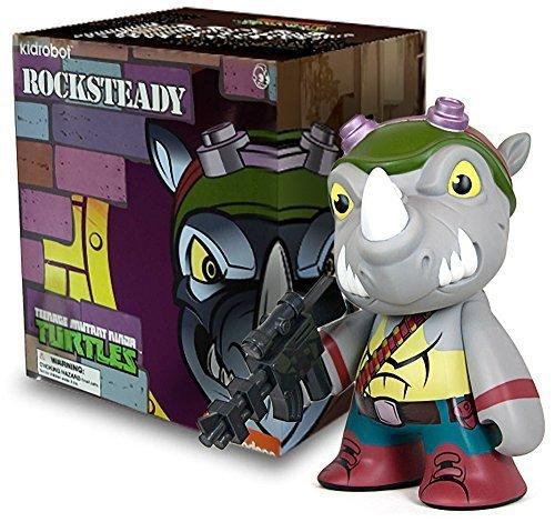 """Rocksteady: TMNT x Kidrobot ~7"""" Deluxe Figure"""