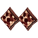 Bhavya Chenille 2 Cushion Cover- Brown, 45 X 45 Cm - B011TQ79B6