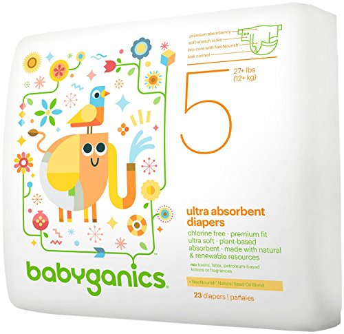 Babyganics Diapers-Size 5-23 Count