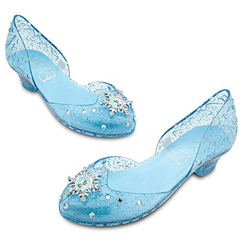 Disney Store Frozen Princess Elsa Light-Up Shoes/Costume Slippers Size 7/8