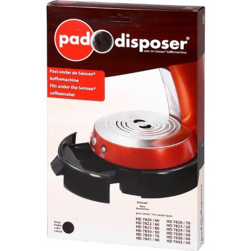Pad Disposer, Behälter für gebrauchte Kaffeepads, für Senseo New Generation: HD7820 - HD7823, HD7830, HD7841, HD7842