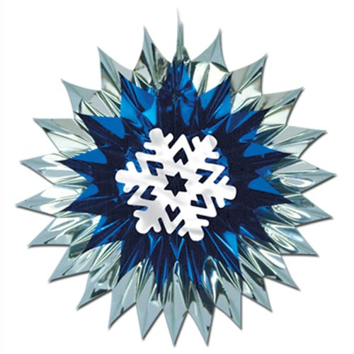 Snowflake Fan-Burst Party Accessory (1 count) (1/Pkg)