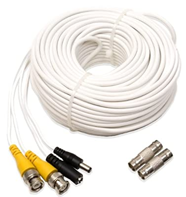 Q-See QS100B Video and Power 100-Foot BNC Male Cable with 2 Female Connectors