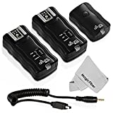 (2 Trigger Pack) Altura Photo Wireless Flash Trigger With Remote Shutter Release For Nikon DF D3200 D3100 D3300...