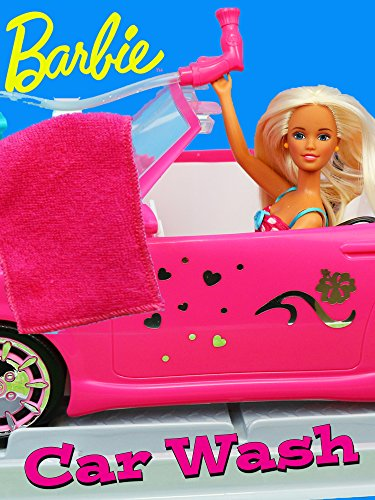 Barbie Car Wash Doll Parody with Disney Frozen Elsa, Ariel & Descendants Dolls