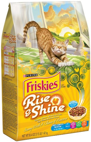 Friskies Dry Rise and Shine Pet Food, 3.15-Pound, 6-Pack (050000585045)