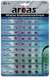 Knopfzellen-Sortiment Alkaline, 40-teilig [Elektronik]