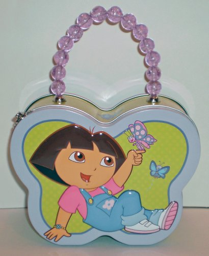 Dora the Explorer Butterfly-Shaped Carry-All Tin - 1
