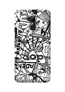 Gobzu Printed Hard Case Back Cover for Coolpad Note 3 - Abstract Triangle Mural