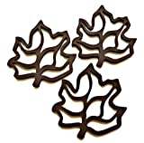 Silicone Trivet Hot Pad Set of 3 - Heat Resistant Durable Flexible Non Slip Mat for Kitchen Cooking and Baking - Decorative Multi-use Placemat - Better Than Iron Trivets - Great Gadget for Bakeware, a Wall Ornament or a Plant Holder (Chocolate Brown)