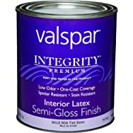 Valspar 004.6012504.005 Integrity Latex Semi-Gloss Wall Paint And Primer In One Paint