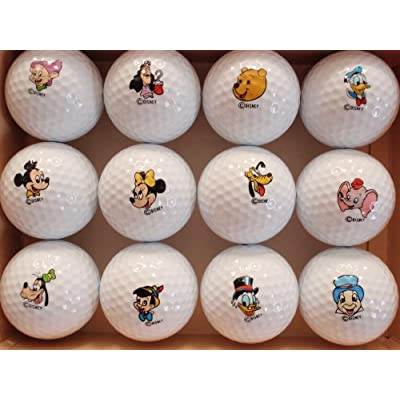 Amazon.com : Disney Dozen: 12 Character Golf Balls Set (Mickey, Minnie