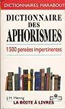 Dictionnaire des aphorismes   par Mennig