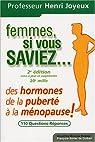 Femmes si vous saviez ! : Des hormones, de la pubert� � la m�nopause par Joyeux