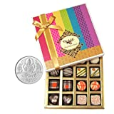 Chocholik Belgium Chocolates - Impressive Collection Of Chocolates And Truffle Gift Box With 5gm Pure Silver Coin...