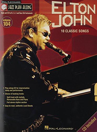 ジャズ・プレイ・アロング 第104巻: エルトン・ジョン(CD付)/ハル・レナード社/ピアノ・ソロ