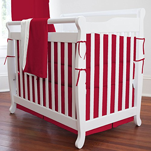 Solid Red Crib Bedding front-1028708