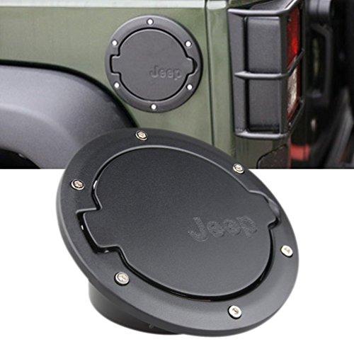 Aeroway-Black-Fuel-Filler-Door-Cover-Gas-Tank-Cap-4-Door-2-Door-for-2007-2016-Jeep-Wrangler-JK-Unlimited