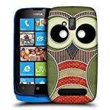 Head Case Green Owl Patchwork Design Snap-on Back Case Cover For Nokia Lumia 610