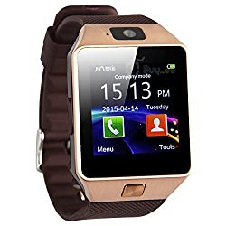 LIFE LIKE DZ09 BLUETOOTH SMARTWATCH WITH SIM & SD CARD SUPPORT - GOLDEN