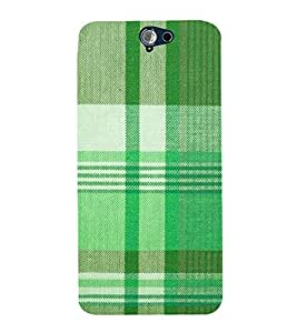 Green Checks Wallpaper 3D Hard Polycarbonate Designer Back Case Cover for HTC One A9
