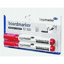 Marqueur pour tableau tZ 100-rechargeable-pointe 1,5/3 mm-rouge-lot de 2 cartouches fusibles
