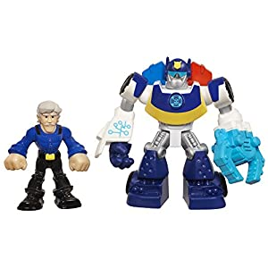 Playskool Heroes Transformers Rescue Bots - Chase The Police-Bot und Chief Charlie Burns [UK Import]