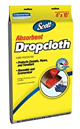 Kimberly-Clark Scott 11659 Absorbent Drop Cloth, 10\' Length x 4\' Width, White (Case of 6)