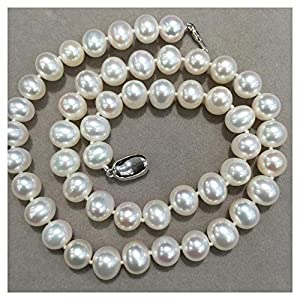 8-9MM Natural Fresh Water Pearl Necklace Near round Jewelry