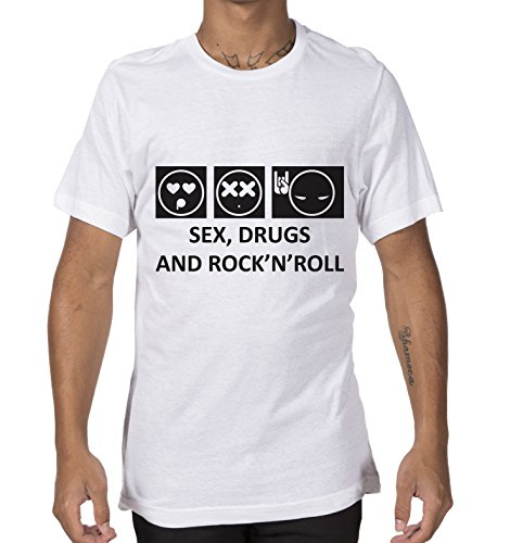 Giallo Bus - T-shirt - Sex,drugs and rock'n'roll - scritta -