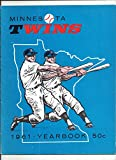1961 MINNESOTA TWINS FIRST EVER YEARBOOK -- TOUGH TO FIND EXCELLENT TO NR MINT