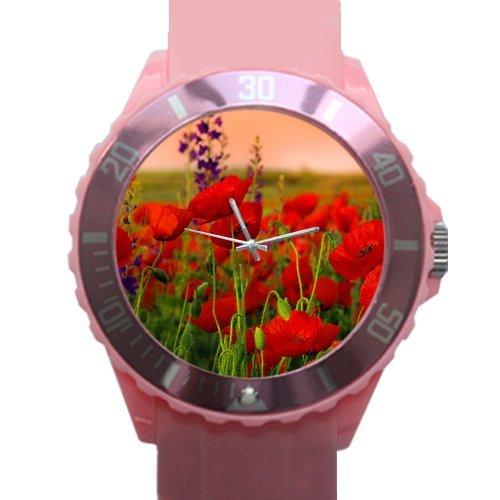Desertcart poppy flower watch buy poppy flower watch products 100 plastic quartz watch gifts watch amazing poppy flowers plastic high quality watch mightylinksfo