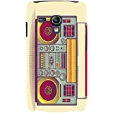 For Samsung Galaxy S3 Mini I8190 :: Samsung I8190 Galaxy S III Mini :: Samsung I8190N Galaxy S III Mini Old Radio ( Old Radio, Vintage Radio, Radio, Yellow Background ) Printed Designer Back Case Cover By FashionCops