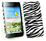 Emartbuy® Huawei Ascend G330 Zebra Black / White Clip On Protection Case/Cover/Skin