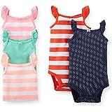 Carter's Baby Girls 5 Pack Sleeveless Bodysuits (Nb-24 Months) (Striped)