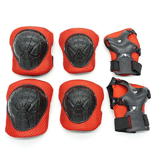 cooplay-piccole-dimensioni-spiderman-polso-gomito-ginocchiere-protettiva-gear-guard-per-bambino-bamb