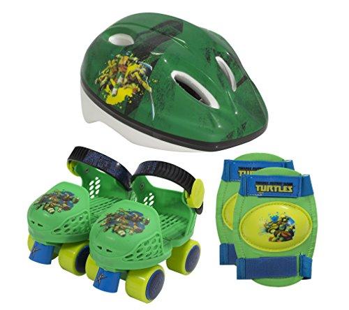 PlayWheels-Teenage-Mutant-Ninja-Turtles-Kids-Roller-Skates-with-Knee-Pads-and-Helmet-Junior-Size-6-12